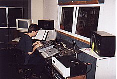 Travis recording his friends