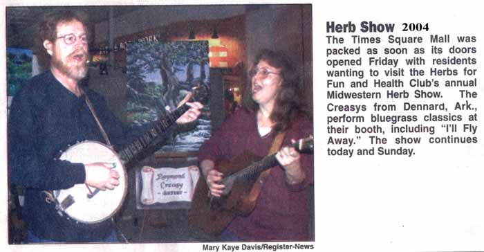 Newspaper article from 2004 about Raymond & Sue